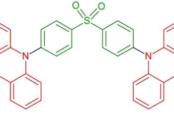 Moléculas Poderosas #5 Difenilsulfona-dimetil-di-hidroacridina (OLED azul)